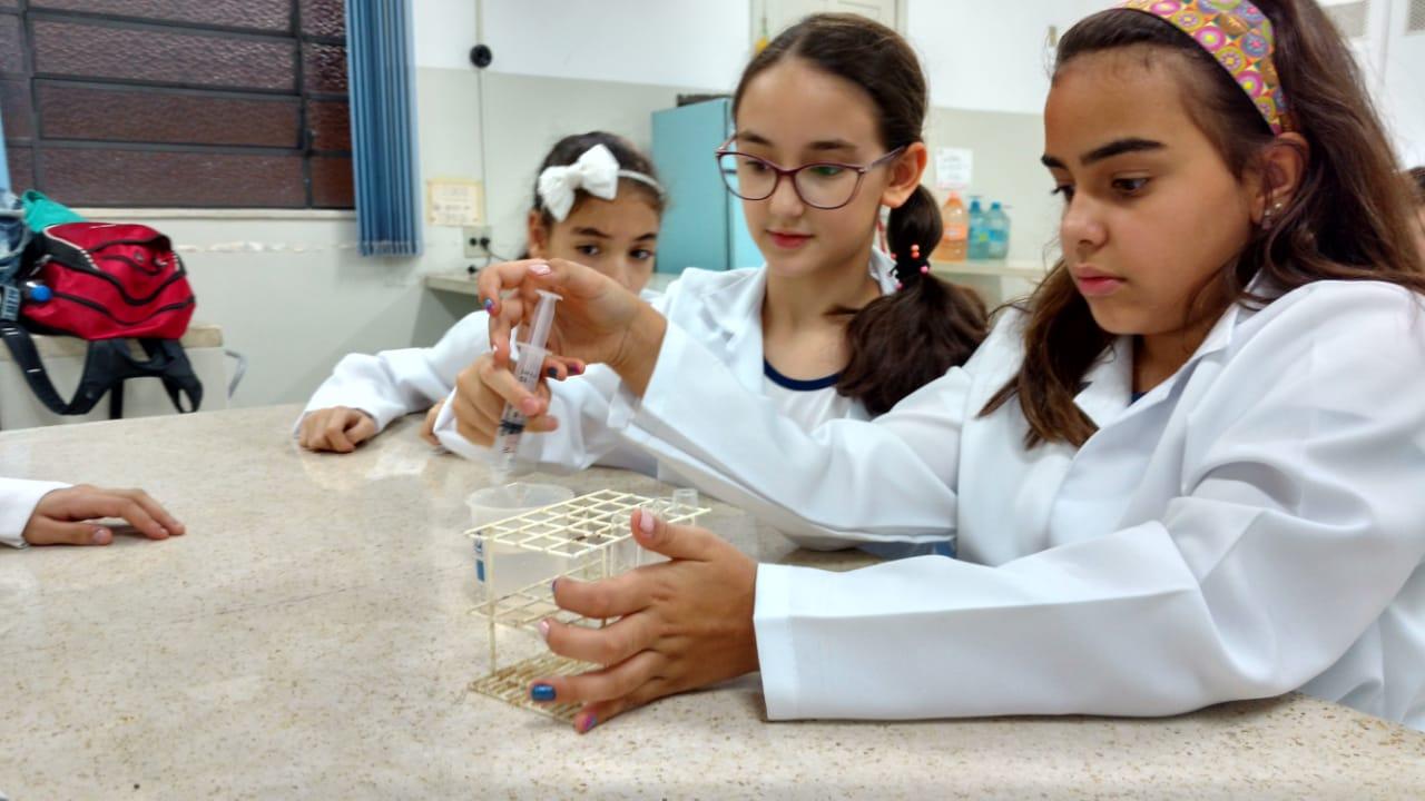 cb700393781 Clube da Ciência – 5º anos A e B – Experimento sobre geração de energia por reação  química (relacionada com magnetismo) – 1ª parte